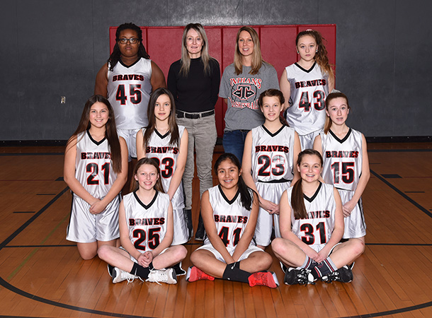 The 2019-2020 Toledo Middle School girls basketball B team.